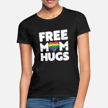 Free Free Mom Hugs, Free Mom Hugs Rainbow Gay Pride - Women's T-Shirt