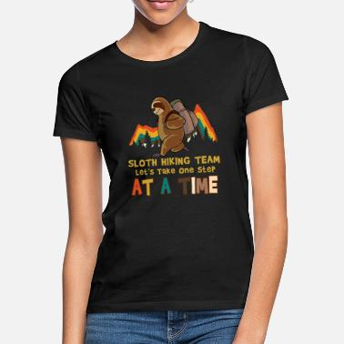 Hiking Sloth Hiking Relax Wanderer Team Group - T-shirt dam