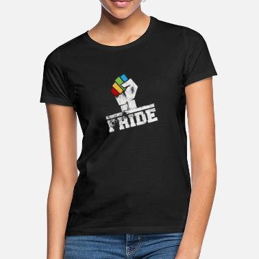 LGBTQ Faut with rainbow colors - Women's T-Shirt