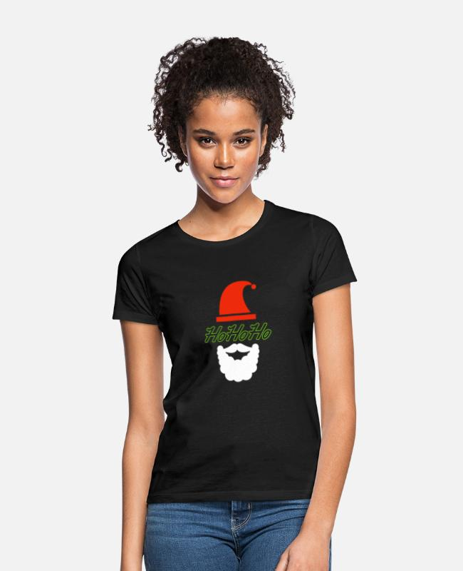 Beard T-Shirts - HoHoHo Santa Claus - Women's T-Shirt black