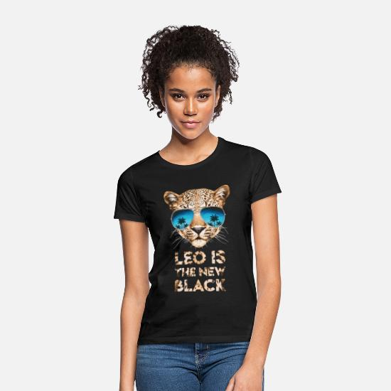 Officialbrands T-Shirts - Animal Planet Leo Is The New Black - Women's T-Shirt black