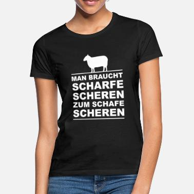 Shear Sheep - sharp shears - Women's T-Shirt