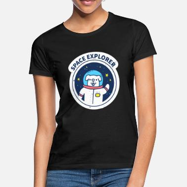 Eclipse Space Dog Funny Graphic - Women's T-Shirt