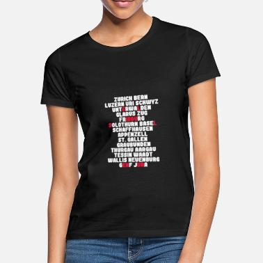 Canton the cantons of Switzerland - Women's T-Shirt