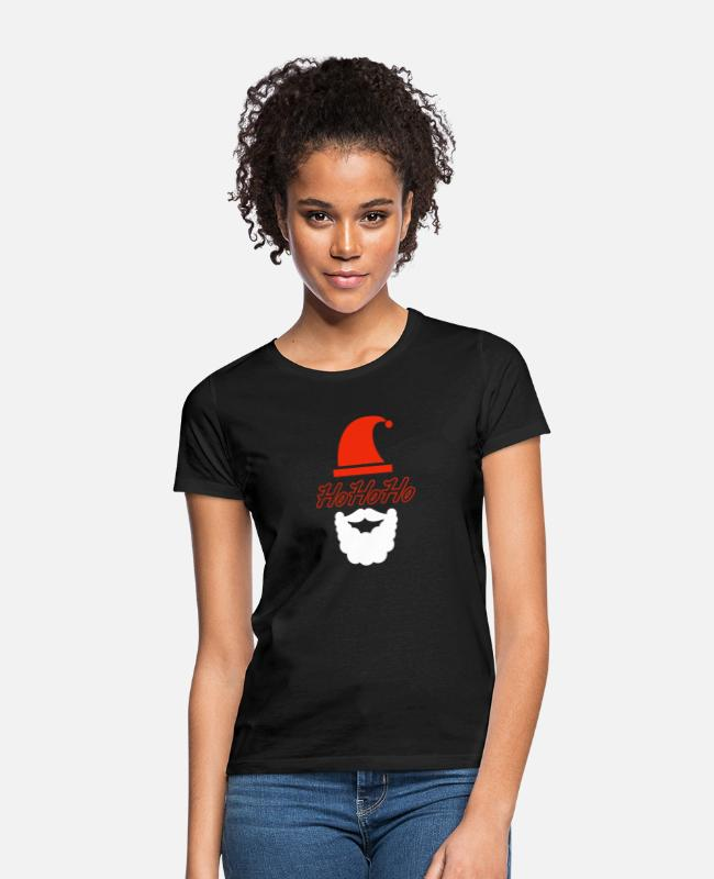 Beard T-Shirts - Santa Claus - Women's T-Shirt black