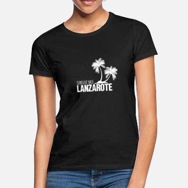 Island Yearning for Lanzarote island. Love gift - Women's T-Shirt