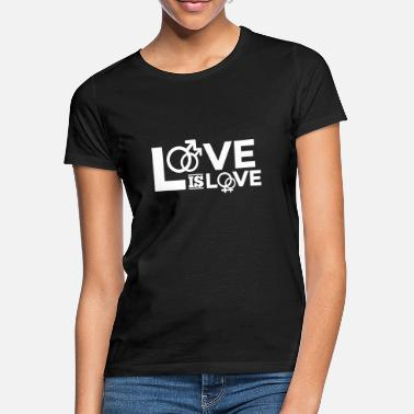 Lgbt love is love - Frauen T-Shirt