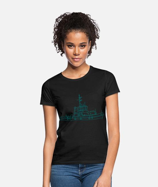 Harbour T-Shirts - Tug or towing boat - Women's T-Shirt black