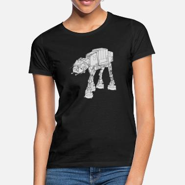Stars Star War AT-AT - T-skjorte for kvinner