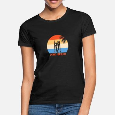 Long Beach Long Beach | Retro Surf Design & Gift Idea - Women's T-Shirt
