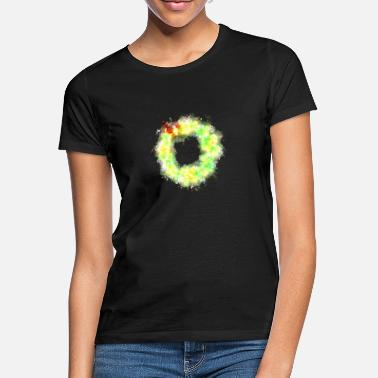 Wreath Wreath Christmas wreath brightly glowing - Women's T-Shirt