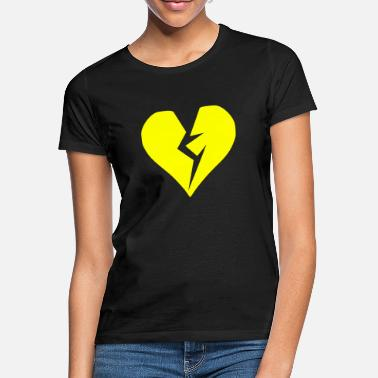 Heartache Yellow heart broken heartache - Women's T-Shirt