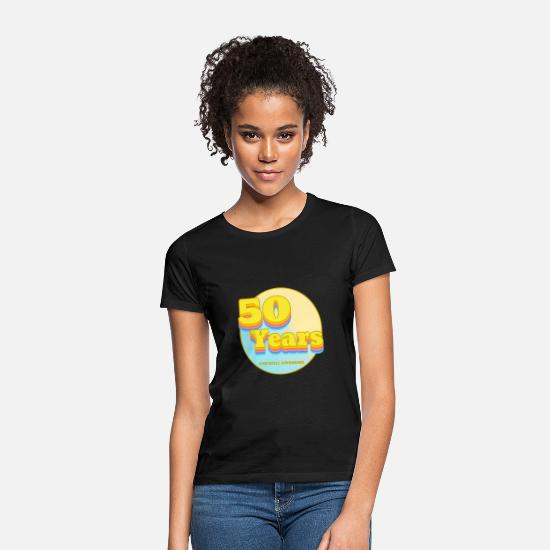 Surprise T-Shirts - 50th birthday silent awesome 80s gift for the 50th - Women's T-Shirt black