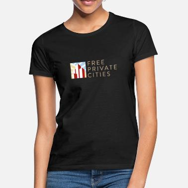 Free Private Cities Logo - Frauen T-Shirt