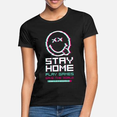 SmileyWorld Stay Home Speel games - Vrouwen T-shirt