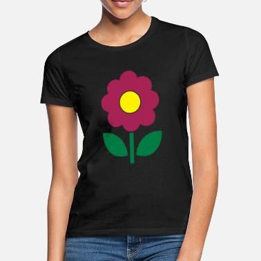 Flow flower - T-shirt dame