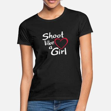 Feldbogen Bogenschießen Archery Shoot like a Girl - Frauen T-Shirt