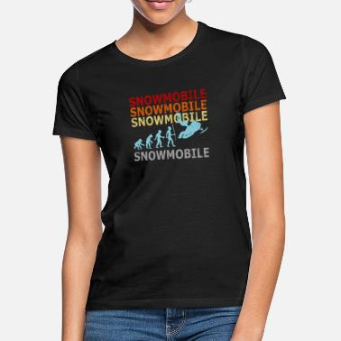 Snowmobile Retro Vintage Evolution Snowmobile Winter Snow - T-shirt dam