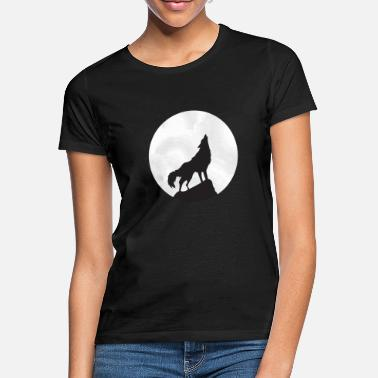 Howling Wolf at full moon - Women's T-Shirt