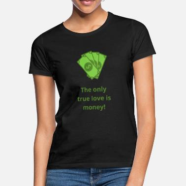 Wall Street Partager Stocks cadeau True love money argent Amc - T-shirt Femme