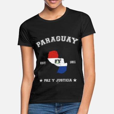Paraguay vintage map with date of founding - Naisten t-paita