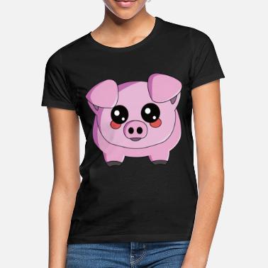 13f40eeda0d7 Cerdito cerdito de cerdo doméstico - Camiseta mujer