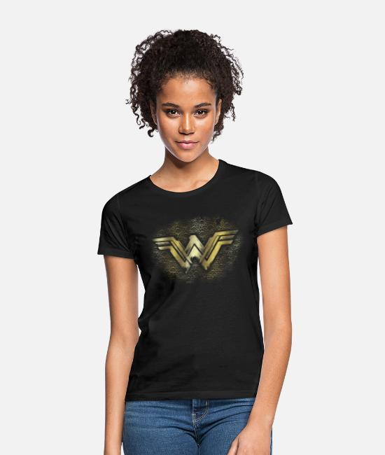 Woman T-shirts - Bros Wonder Woman Gold Logo Geometric - T-shirt dam svart