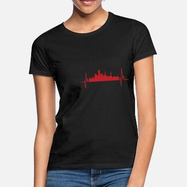 West Midlands My Heart beats Birmingham heartbeat frequency Tee - Frauen T-Shirt