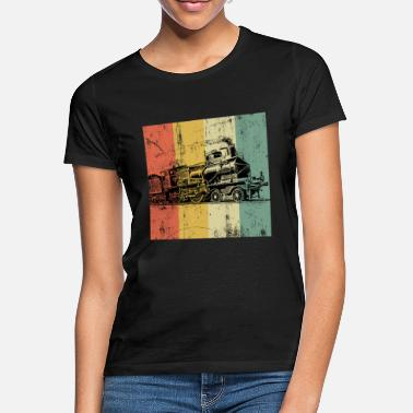 Damp Tog Lokomotiv Steam Railroad Railway vintage - T-shirt dame
