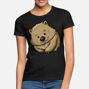 Cartoon Cartoon wombat - Vrouwen T-shirt