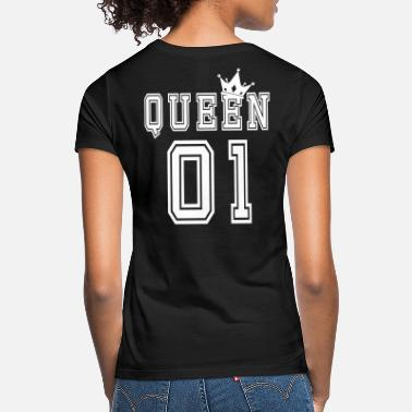 King Queen Valentine's Matching Couples Queen Crown Jersey - T-shirt dame