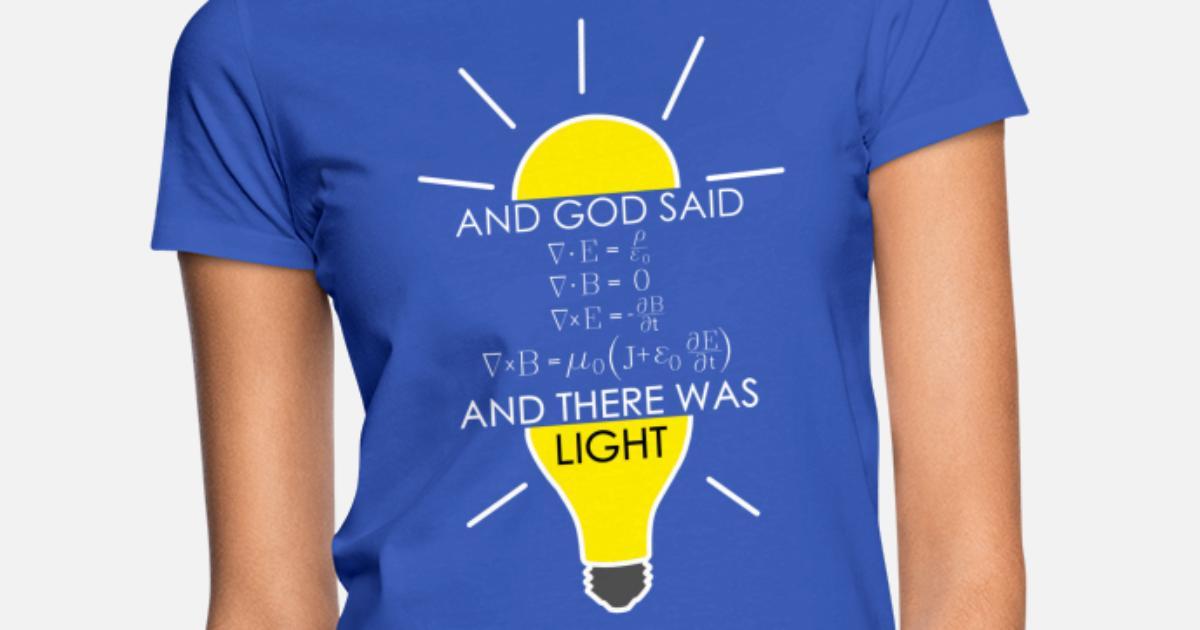 Maxwell/'s équations T-shirt femme scientifique drôle électricité physique drôle