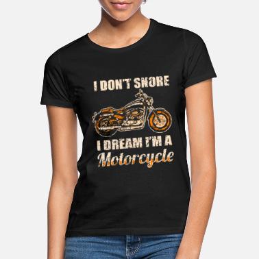 Divertente regalo per motociclisti moto chopper e russare Maglietta