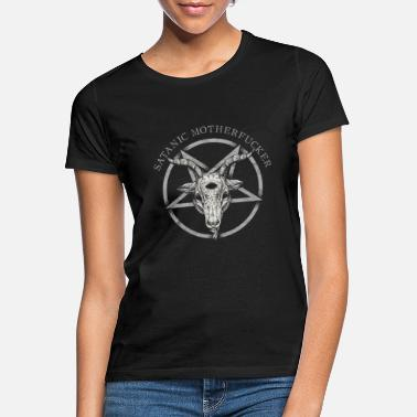 Occult Satanic Motherfucker Occult Atheist Death Black - Women's T-Shirt