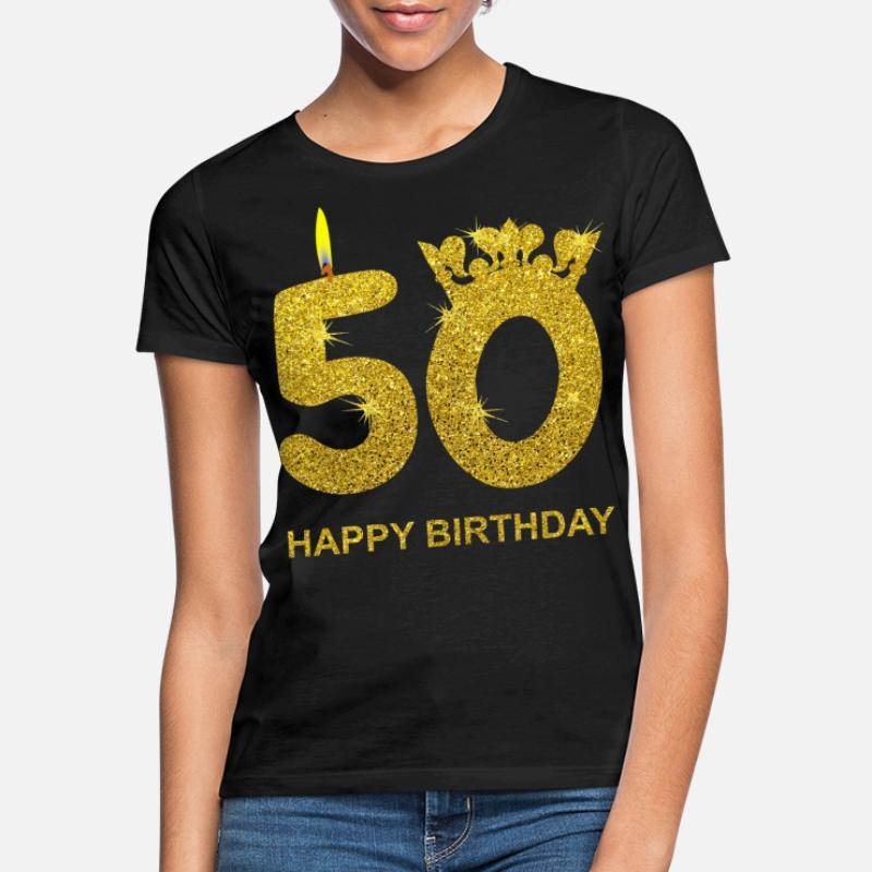 Regalo 50 cumplea/ños hombres mujeres 50 a/ños Camiseta