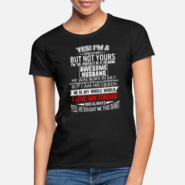 T-Shirt Wife Girlfriend I Love My Brave Husband Boyfriend Lineman Design-1533