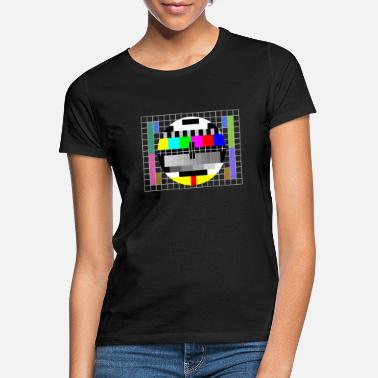 Television Test pattern television retro eighties and ninetie - Vrouwen T-shirt
