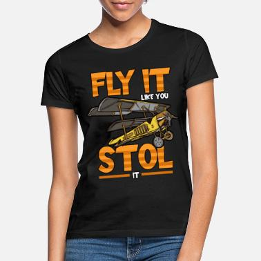 Pilot Fly Luftfart Flying Profession Funny - T-shirt dame