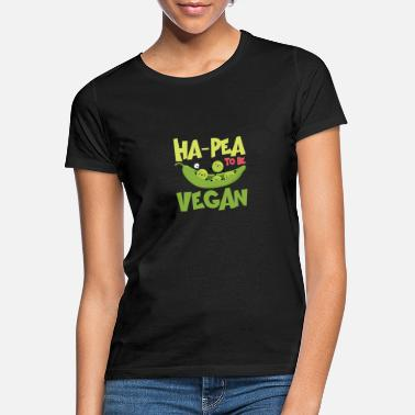 Bio Ha-Pea To Be Vegan Funny Veganism Food - Frauen T-Shirt
