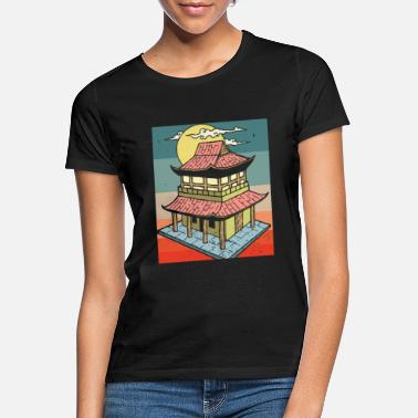Warrior Retro Asian Vintage Chinese Pagodas China Gift - Women's T-Shirt