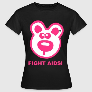 Fight HIV Aids Statement Bär Gay Pride Comic Funny - Frauen T-Shirt