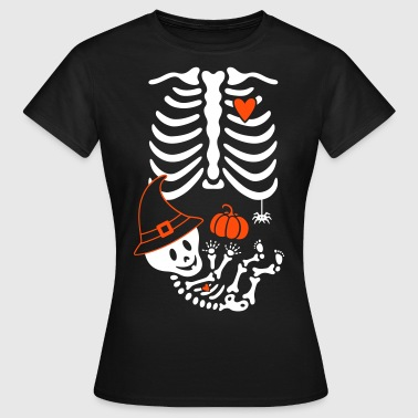 Maternity Skeleton Witch Hat - Women's T-Shirt