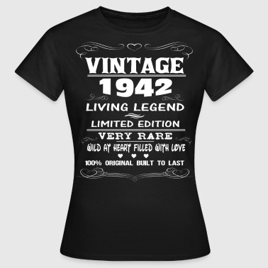 VINTAGE 1942-LIVING LEGEND - Women's T-Shirt