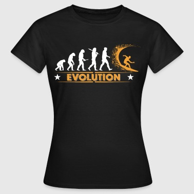 Surfing Evolution - orange/weiss - Frauen T-Shirt