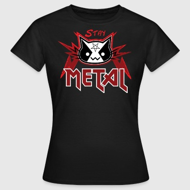 Metal Cat - Stay Metal (Rote Edition) - Frauen T-Shirt