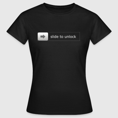 slide to unlock - Frauen T-Shirt
