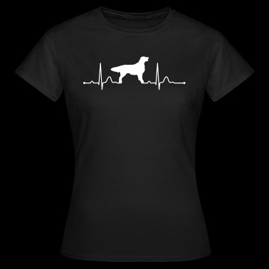 FLAT COATED RETRIEVER heartbeat heartbeat - Women's T-Shirt