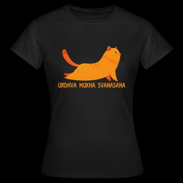 Cool Urdhva Mukha Svanasana Yoga Pose Love CatYoga - Women's T-Shirt