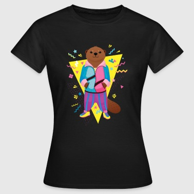 Cool 80's Otter - Dame-T-shirt