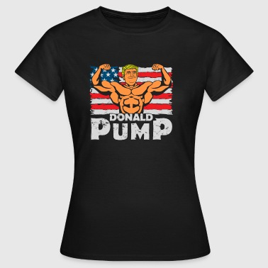 Donald PumP Color Logo - Frauen T-Shirt